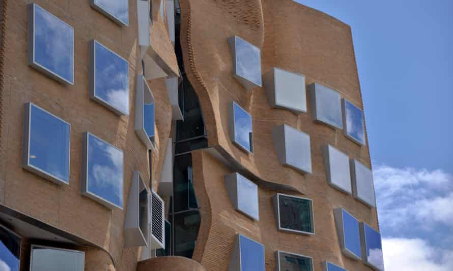 The Frank Gehry-designed business school building at the University of Technology in Sydney.