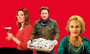 Nigella Lawson, Jamie Oliver and Fanny Cradock