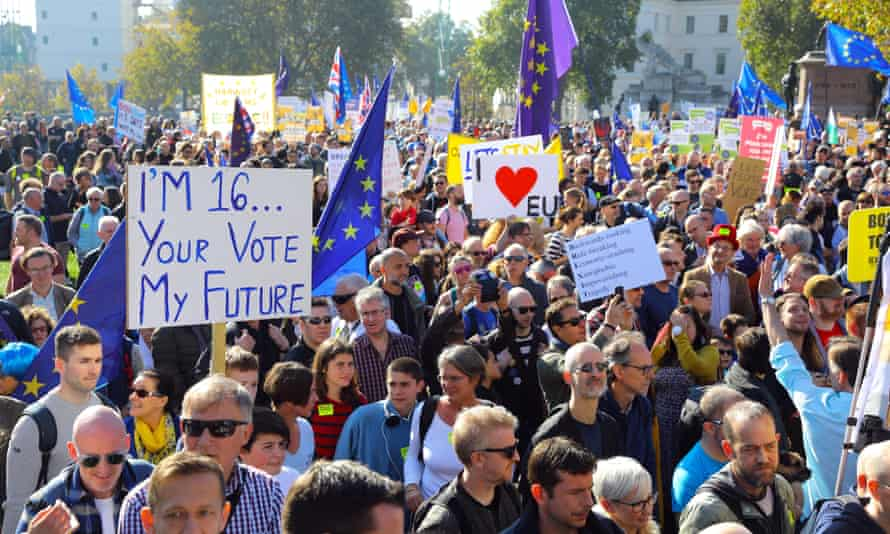 A scene from last month's People's Vote march in London