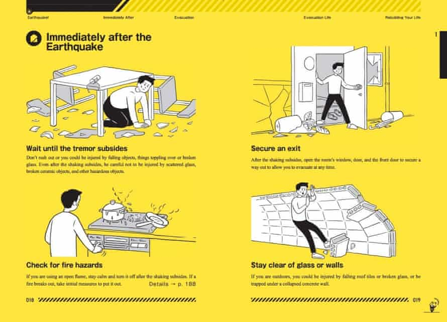 The Tokyo Disaster Preparedness Manual, a government guide that, among other tips, includes advice on 'accepting death'.