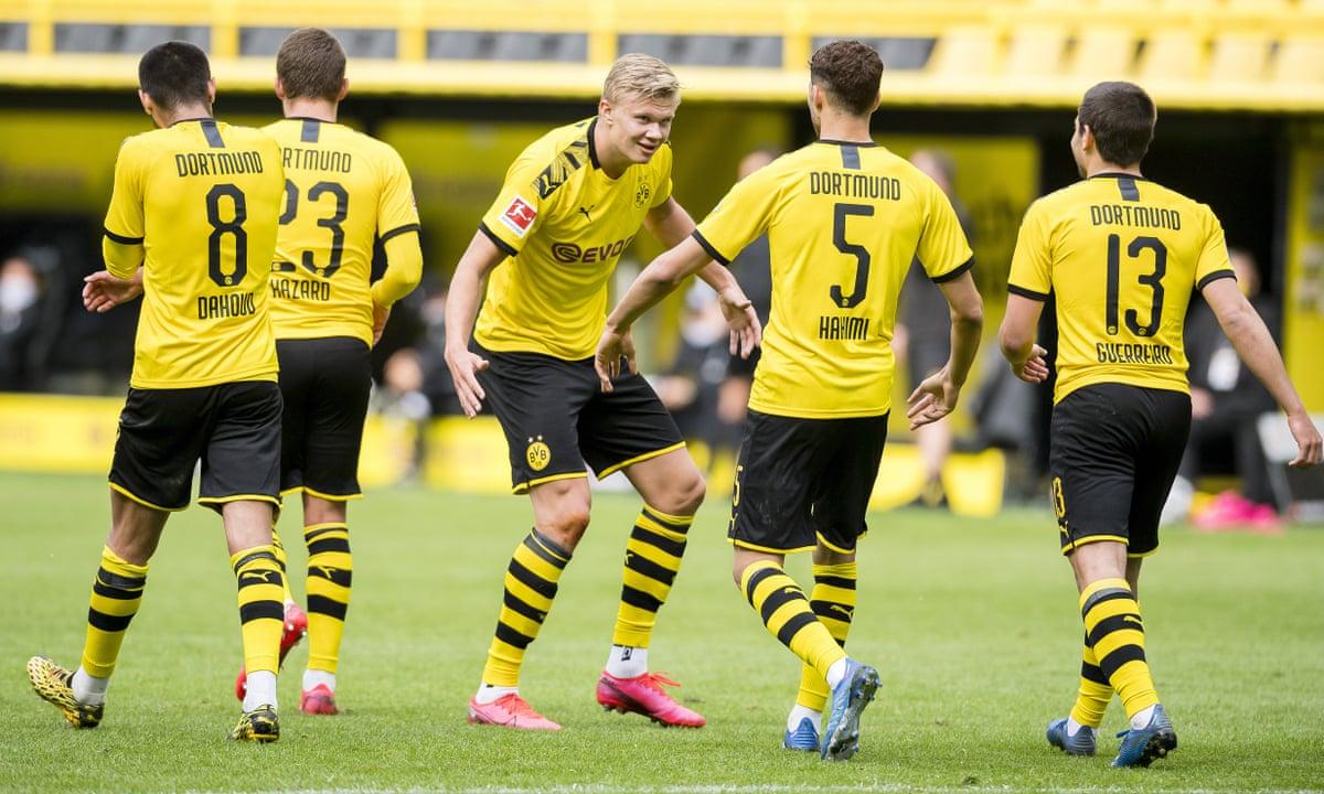 Borussia Dortmund 4 0 Schalke Bundesliga Returns As It Happened Football The Guardian