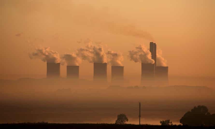 Sunrise at the coal-fired Lethabo power station