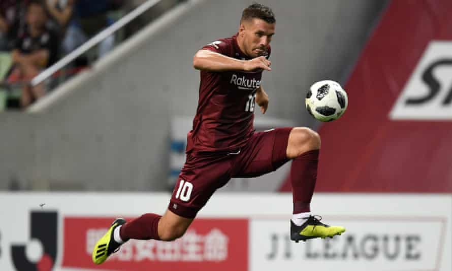 Lukas Podolski stepped down as Vissel Kobe captain last April and will not go down as one of the club's better signings.