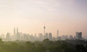 The Kuala Lumpur city skyline.