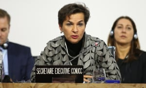 Christiana Figueres at climate talks in Paris on 5 December