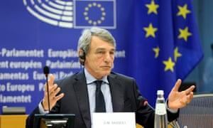 The president of the European parliament, David Sassoli