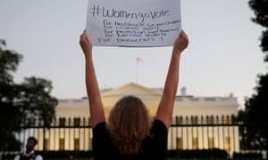 protesters White House Brett Kavanaugh October 2018.