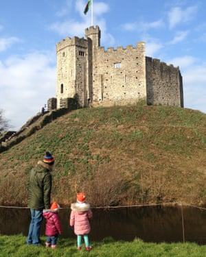 Kirstie Proctor's family have enjoyed looking at the castle in Cardiff's Bute Park.