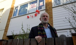 Labour party leader Jeremy Corbyn outside his house