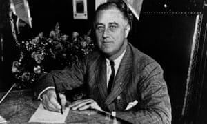 US president  Franklin Delano Roosevelt