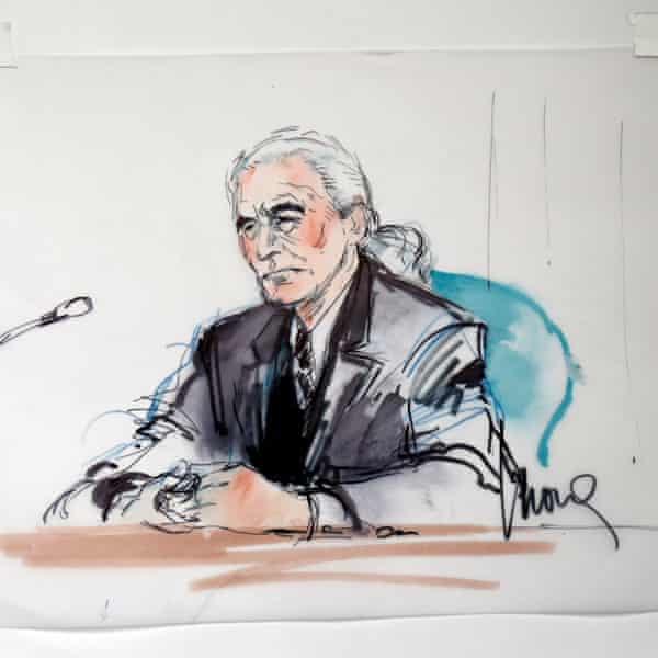 Led Zeppelin guitarist Jimmy Page in court.