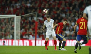 After what he called a disappointing season in club colours, John Stones, here against Spain last autumn, will be playing for England against France.