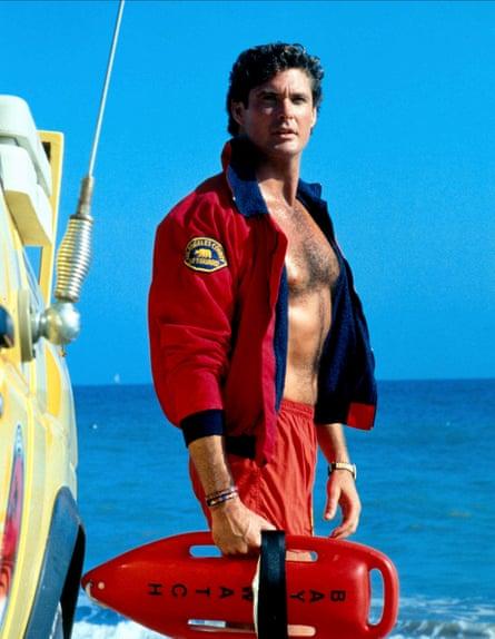 David Hasselhoff in his Baywatch heyday.