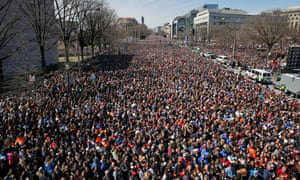 A crowd fills Pennsylvania Avenue during the March for Our Lives in Washington DC last Saturday.