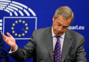 Strasbourg, France: Nigel Farage