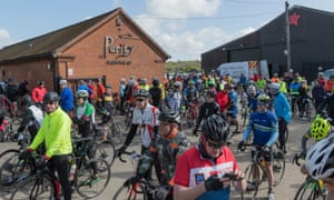 A sportive at Purity brewery.