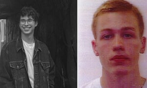 Police say there has been no sign of French tourist Erwan Ferrieux (L) and Englishman Hugo Palmer (R) since a search for them began on Monday.