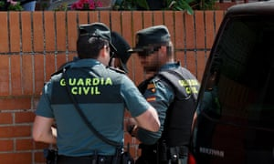 Spanish Guardia Civil force
