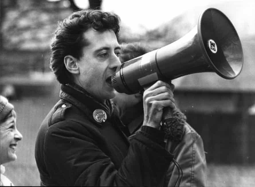 Dirtiest campaign … Tatchell during the 1983 Bermondsey by-election runup.