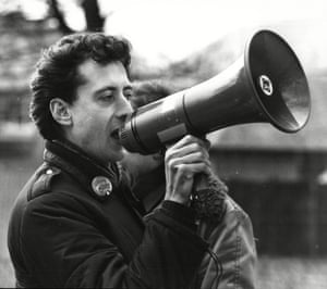 Peter Tatchell campaigning in 1983.