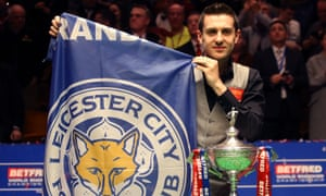 Mark Selby shows his true colours after winning the World Snooker Championship on the night Leicester City took the Premier League title.
