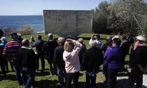 Tourists in Anzac Cove. Tourism operators do not believe comments by Turkey's president after the Christchurch attack will affect Gallipoli commemorations.