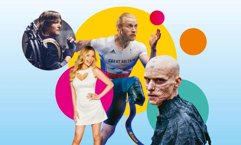 From left: The Walking Dead; Love Island; The Paralympic Games; Britannia.