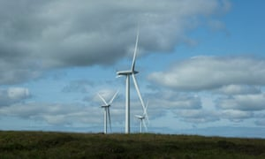 Windfarm at Whitelee in East Renfrewshire, Scotland
