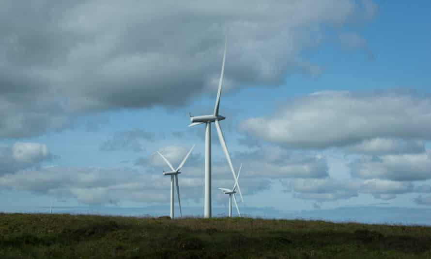 Windfarm at Whitelee in East Renfrewshire, Scotland