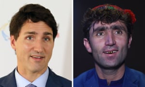 Justin Trudeau and Abdul Salam Maftoon