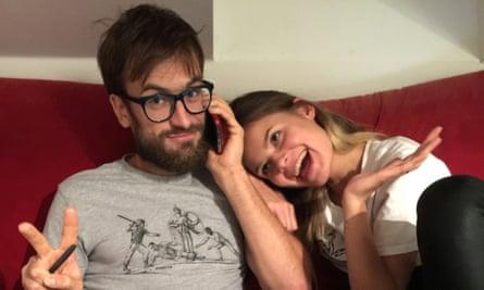 Peter Verzilov and girlfriend Veronika Nikulshina in Berlin, September 26.