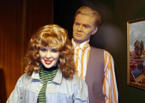 Waxworks of Kylie Minogue and Jason Donovan Louis Tussauds House of Wax Museum, Great Yarmouth, Norfolk, Britain