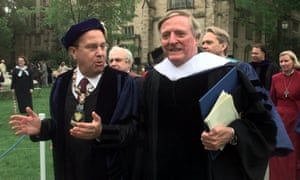 Richard C Levin with William F Buckley Jr, Yale University, 2000