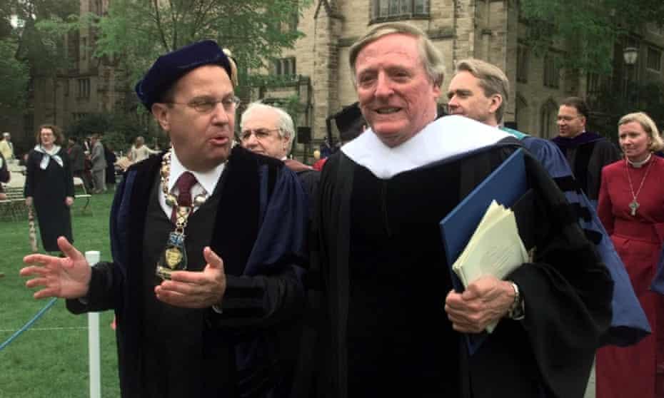 Richard C Levin with William F Buckley Jr, Yale University, 2000