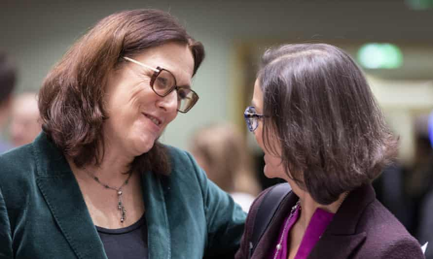 Cecilia Malmström (left), a Swedish politician looking for a fresh challenge