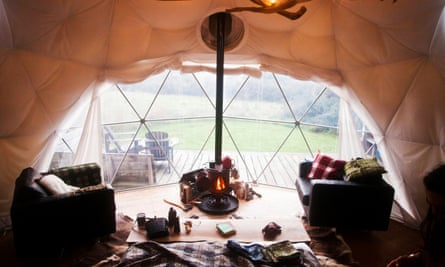 Dome tent at Ffrorest
