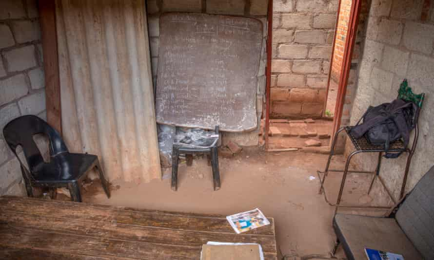 A makeshift classroom at the home of a school teacher in Kuwadzana.
