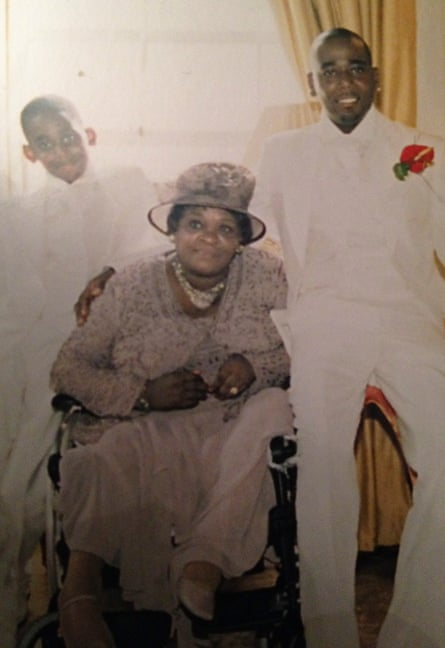 Three generations. Lee Lawrence with his mother and son, Brandon, at his wedding in 2006