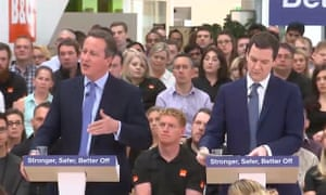 David Cameron and George Osborne release the Treasury analysis which also predicted more borrowing and higher inflation.