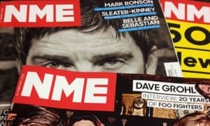Editions of NME from 2015 – in September of that year the magazine became free.