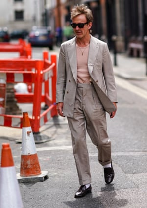 White socks with penny loafers: fashion stylist Tom Stubbs.