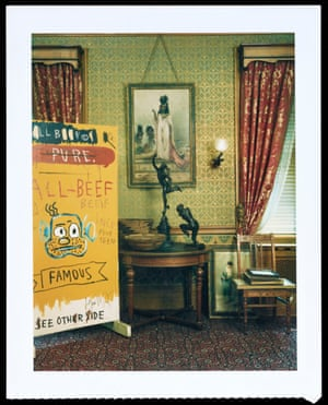 Polaroid test shot of the interior of Andy Warhol's 1911 New York townhouse, taken for House & Garden, December 1987
