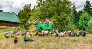 Tasha Hall creates 'Farmily' portraits featuring families and their animals