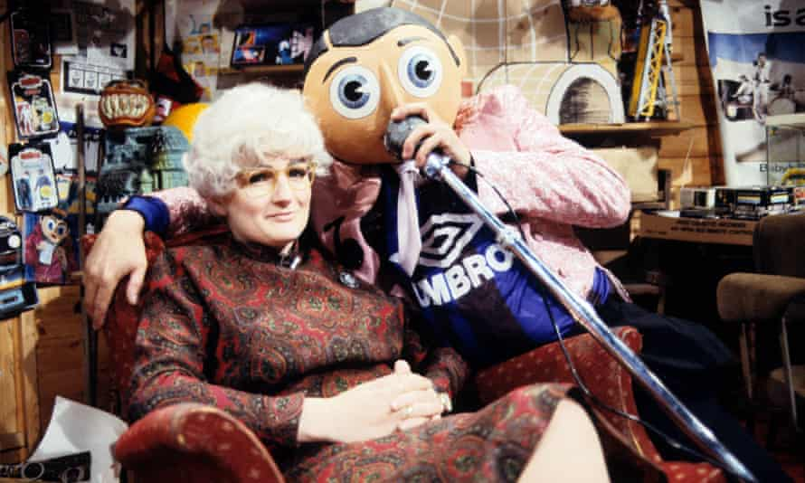 Aherne on Frank Sidebottom's Fantastic Shed Show in 1992.