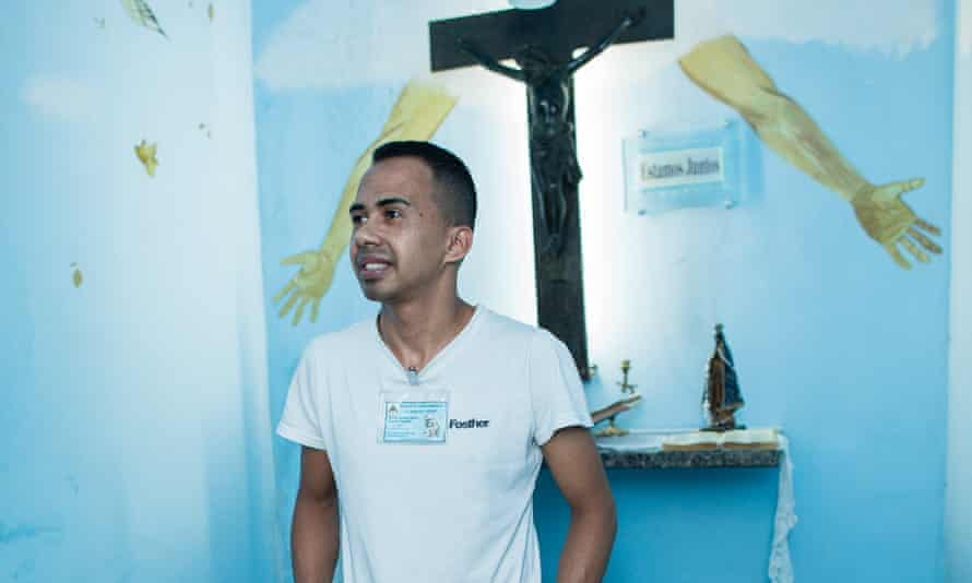 Renato Da Silva Junior was convicted of homicide five years ago, but now spends all his time studying and working to reduce his 20-year sentence