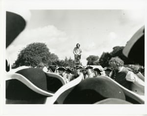 Black and white and colour photographs of Stanley Kubrick with the cast and crew during shooting, 1975. The archive holds two boxes of production stills from the filming of Barry Lyndon.