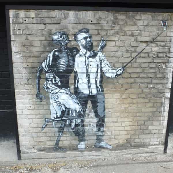 Danse Macabre parody mural