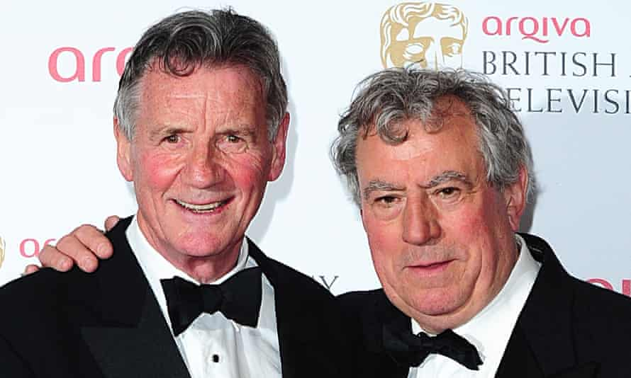Terry Jones, right, with Michael Palin in 2013.