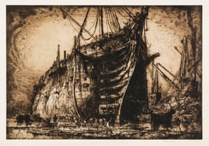 Frank Brangwyn (1867–1956) The last of the HMS Britannia c. 1917