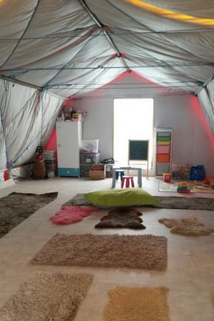 The Women and Children Centre in the Calais refugee camp